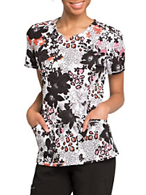 Wild Floral Print Top