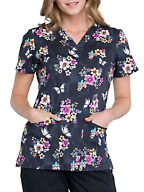 Butterflies and Blooms Print Top