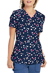 Dots Cool V-Neck Print Top