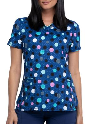 Poppin' Polka Dots Navy Print Top