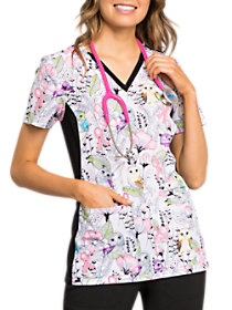 Owl Be In The Garden Breast Cancer Awareness Print Top