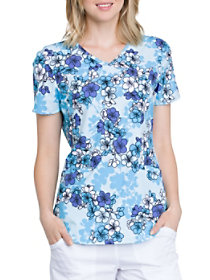 Beautiful Blossoms V-Neck Print Top