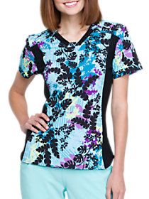 In Disbe-leaf V-Neck Print Top