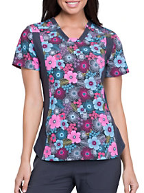 Glorious Garden V-Neck Print Top