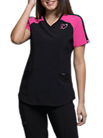 Breast Cancer Embroidered Top