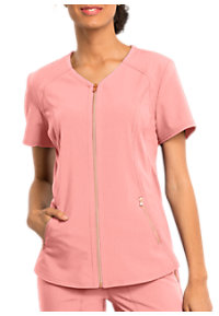 a6cd8ab6df1 See Details item #CK795 · Statement By Cherokee Zip Front Scrub Tops