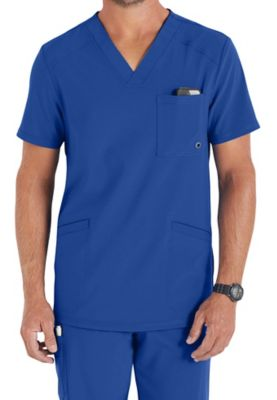 Infinity By Cherokee Men's V-neck Scrub Tops With Certainty