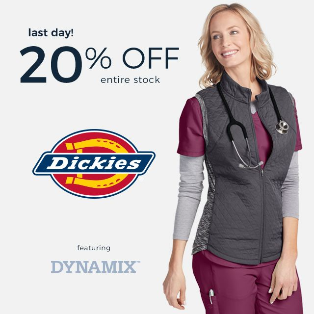 20 percent off all Dickies