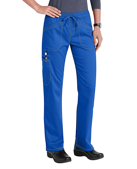 195a9da6cf7 Dickies Essence Drawstring Straight Leg Cargo Scrub Pants | Scrubs & Beyond