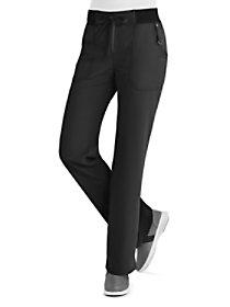 Rib Waist Drawstring Pants