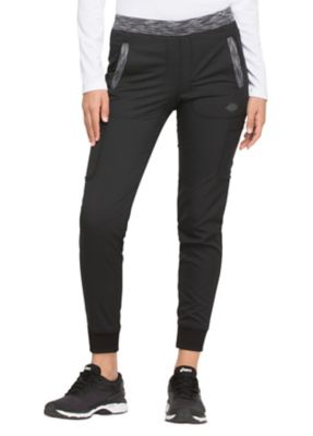 Tapered Leg Jogger with Melange Contrast
