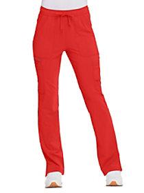 Solid Tonal Twist Boot Cut Pants