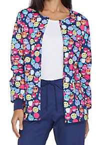Dickies EDS Signature I Heart Flossing Print Scrub Jackets