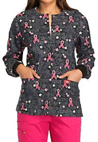 Dickies Love Trust Care Breast Cancer Awareness Print Scrub Jackets