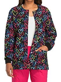 Street Heart Print Jacket