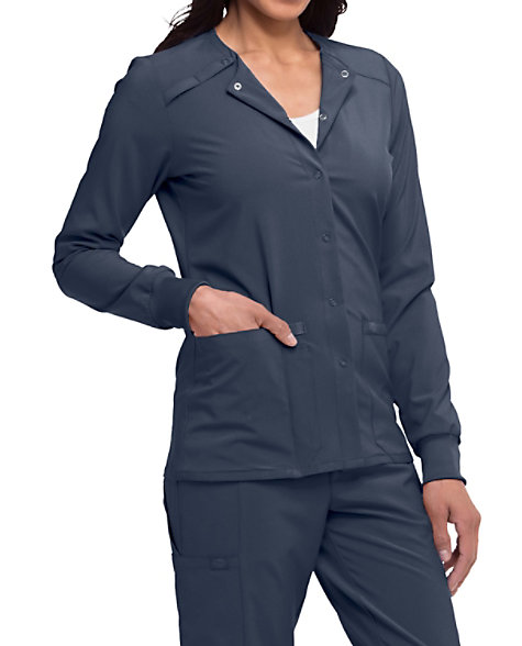 ce228ec20ec Dickies EDS Essentials Snap Front Warm-up Scrub Jackets | Scrubs & Beyond