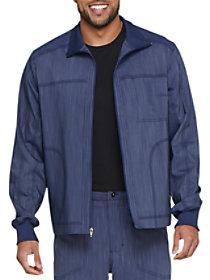 Two Tone Twist Zip Front Jacket