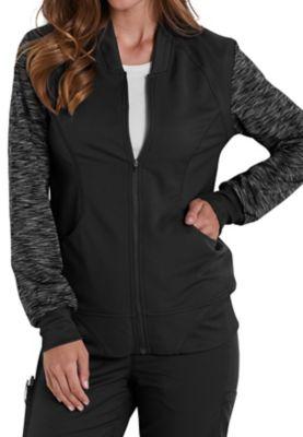 Dickies Dynamix Knit Sleeve Zip Front Scrub Jackets
