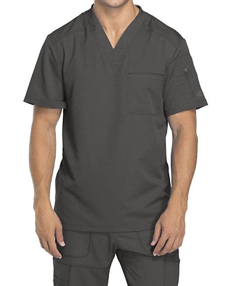 1c2aad92529 Dickies Dynamix Men's V-neck Scrub Tops | Scrubs & Beyond
