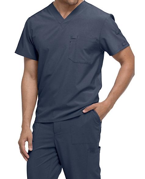 c721dc00ec9 Dickies EDS Essentials Men's One Pocket V-neck Scrub Tops   Scrubs & Beyond