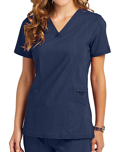 938f0133f2b Dickies Advance Two Tone Twist V-neck Scrub Tops | Scrubs & Beyond