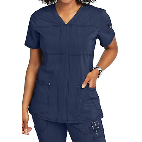 b8672b6d241 Dickies Advance Two Tone Twist Round Neck Scrub Top With Princess ...