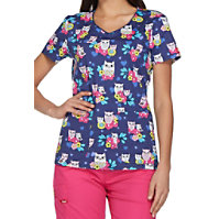 Dickies It's Owl Good V-neck Print Tops