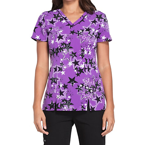 6c0eb924e0d Dickies Xtreme Stretch Stellar Stardust V-neck Print Tops. Click to Zoom