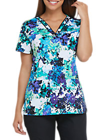 Take It or Leaf It V-Neck Print Top