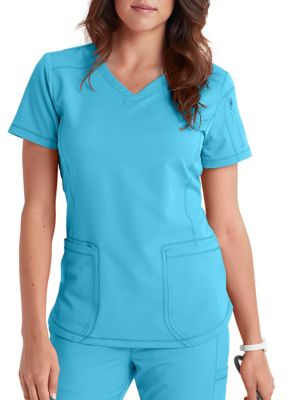 Dickies Dynamix 3 Pocket Curved Hemline Scrub Tops