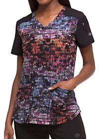 Texture Tango Cosmic Pink Print Top
