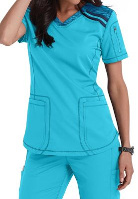 Dickies Dynamix Knit Panel Scrub Tops