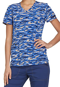 Dickies Essence Get Back In Line V-neck Print Scrub Tops