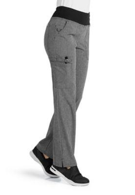 ELLE Joie De Vivre Yoga Knit Waist Cargo Scrub Pants
