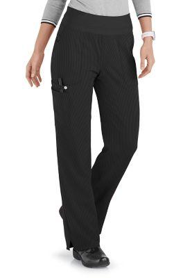 ELLE Joie De Vivre Yoga Knit Waist Cargo Tonal Texture Scrub Pants