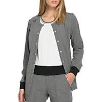ELLE Amour Et Compassion Snap Front Tonal Texture Jackets