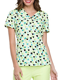 Heart of Mine Kiwi Sorbet Print Top
