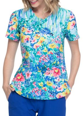Hand Painted Posies V-Neck Top