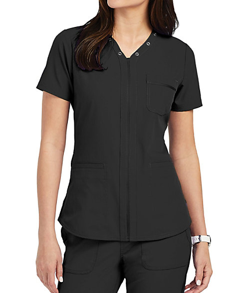 ELLE Simply Polished La Vie Est Belle V-Neck Scrub Tops ...