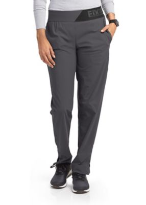 Grey's Anatomy Edge 3 Pocket Logo Elastic Waist Scrub Pants