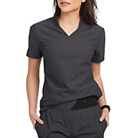 c7ea6eae801 Grey's Anatomy Edge Lyra 3 Pocket Polo Scrub Top