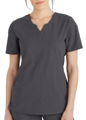 Grey's Anatomy Edge Axis Split Neck Scrub Top