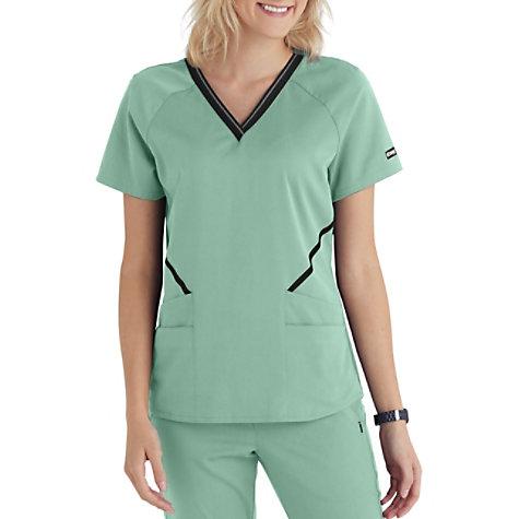e139b30957b Grey's Anatomy Impact 4-Pocket V-Neck Logo Scrub Top | Uniform City