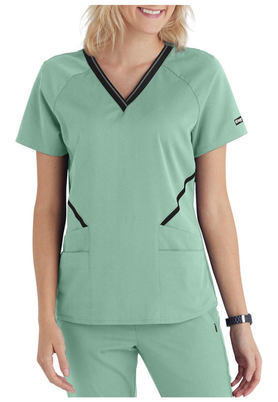 8da33cdf9ce Grey's Anatomy Impact 4-Pocket V-Neck Logo Scrub Top | Uniform City