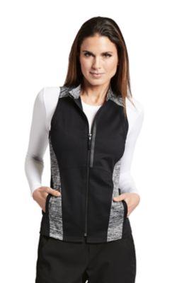 Grey's Anatomy Impact Contrast Panel Zip Front Scrub Vests