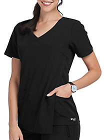 3 Pocket Asymmetrical Drape Pleat Top