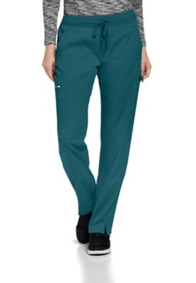 Grey's Anatomy Spandex Stretch 3-Pocket Logo Waist Cargo Scrub Pants