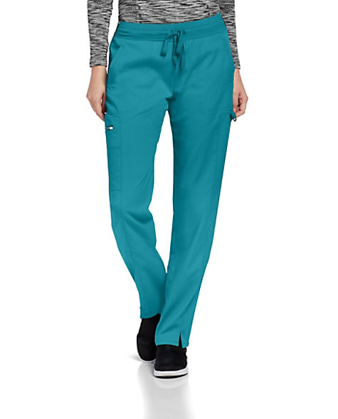 660d68feeca Grey's Anatomy Spandex Stretch 3-Pocket Logo Waist Cargo Scrub Pants |  Scrubs & Beyond