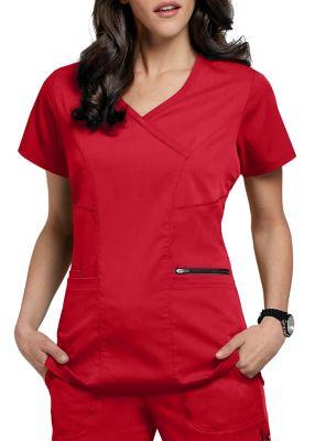 Grey's Anatomy Spandex Stretch Surplice 3 Pocket Scrub Top