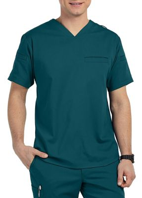 Grey's Anatomy Spandex Stretch Men's 3 Pocket V-Neck Scrub Top